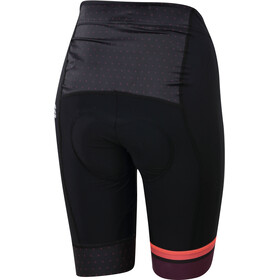 Sportful Diva Shorts Women black/coral fluo/bordeaux